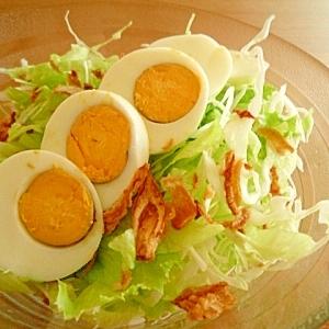 トッピングゆで卵で簡単サラダ