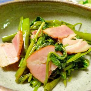 ■10分で..空芯菜の鶏ガラスープの素炒め