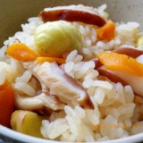 栗と椎茸の炊き込みご飯