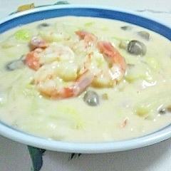 簡単で美味しい~♥海老と白菜のクリーム煮❤