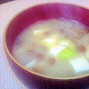 簡単☆ゆずの香り☆なめこと豆腐のお味噌汁