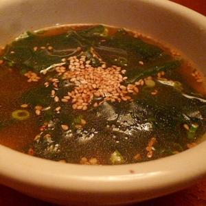 簡単ピリ辛わかめスープ