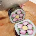 ひな祭り&お正月に♪梅の花の飾り巻き寿司