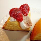 マスカルポーネチーズと苺のシフォンケーキ