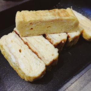 納豆のタレとチーズの卵焼き