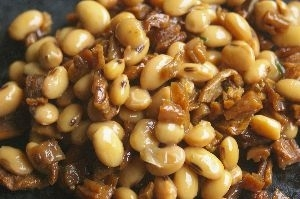 切干大根と大豆のソテー