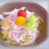 そうめん瓜:麺=1:1 ベジタリアンな冷やし中華♪