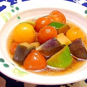 彩り楽しい♪夏野菜の冷たい焼き浸し
