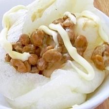 焼き餅に新定番☆納豆マヨネーズ