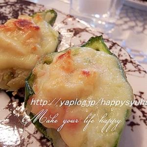 エビマヨサラダ☆ピーマンカップでチーズ焼き