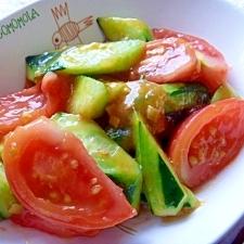 夏野菜!簡単!きゅうりとトマトのサッと炒め