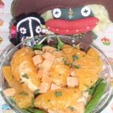 デザート感覚で!伊予柑とチーズのサラダ