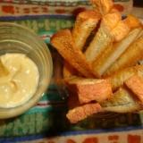 食パンでシンプルラスク