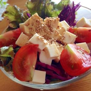 プチトマトの豆腐サラダ