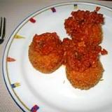 残ったトマトソースで簡単ライスコロッケ