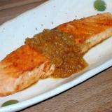 鮭の玉ねぎ生姜ソース♪