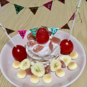 1歳の誕生日♡パンケーキタワー