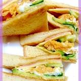 卵・きゅうり・ハムのサンドイッチ