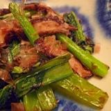 めんつゆで簡単おかず☆椎茸と小松菜のおかか炒め