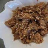 豚肉とごぼうの甘辛炒め