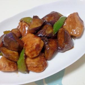 むね肉と夏野菜のバルサミコ炒め++