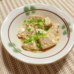 トリプルごまが旨っ!レンチン豆腐の練りゴマ和え♪