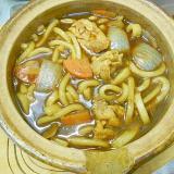 熱々☆土鍋でカレーうどん★