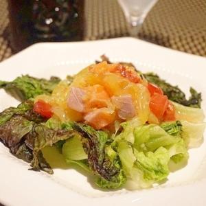 【宮城食材】サーモンとトマトのフルーツサラダ