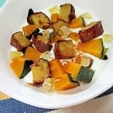 秋フルーティー☆かぼちゃと焼き芋のヨーグルト♪