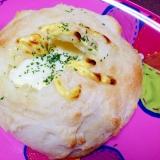 モッツァレラチーズで☆とろ〜り贅沢チーズパン