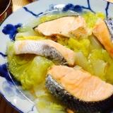 【ガサツ料理】塩鮭と白菜の塩辛蒸し
