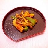 カレー風味♪竹輪とピーマンの炒め物