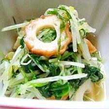 水菜と竹輪のさっと煮