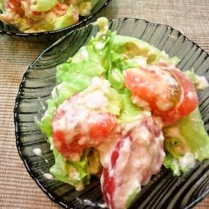 豆腐とトマトのぐちゃまぜサラダ☆簡単で美味い☆
