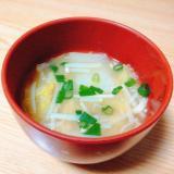 白菜とえのきと小ねぎの味噌汁