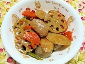 食物繊維がたっぷり☆野菜とこんにゃくのピリ辛煮