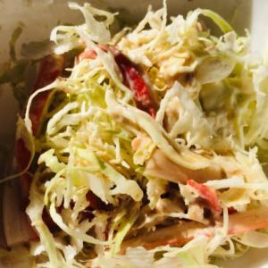 鰹節とカニカマとキャベツのマヨネーズサラダ