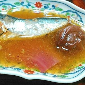 鰯の梅酢生姜と梅酒の実煮