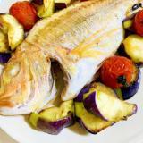 無水鍋で超簡単!連子鯛のアクアパッツァ