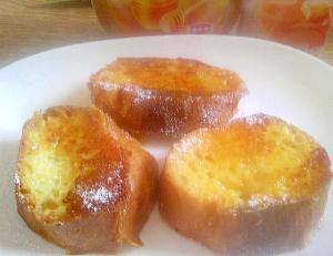 ホエーを入れた卵液で作るフレンチトースト