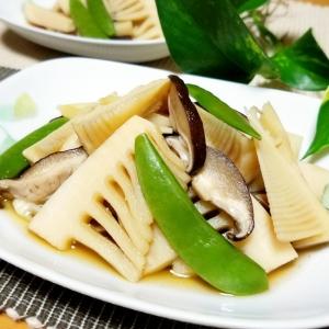 麺つゆで簡単!筍とスナップえんどうの煮物