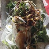 水菜と新玉ねぎ生姜のサラダ
