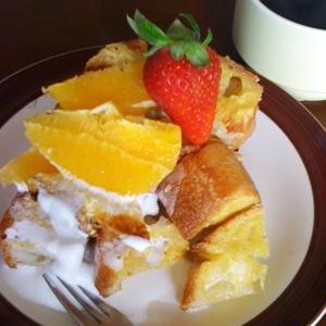 オレンジのフレンチトースト