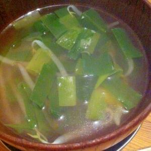 かんぞうともやしの中華スープ