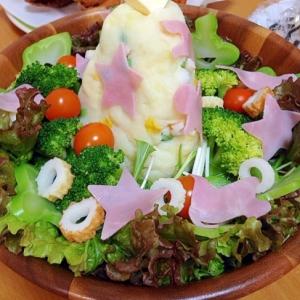 ポテトサラダツリーの簡単サラダ(=゚ω゚)ノ