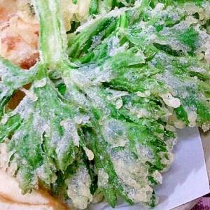 グレープシードオイルで☆セロリの葉っぱの天ぷら