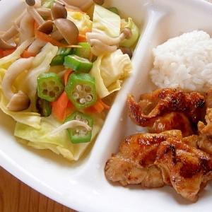 おいしくダイエット☆温野菜&鶏もも肉の味噌焼き☆