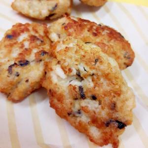 子供が喜ぶ(^^)鶏ひき肉+長芋+塩昆布の唐揚げ♪