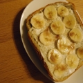 シナモンシュガーとバナナのトースト