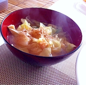 春キャベツのお味噌汁★
